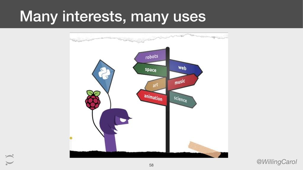 Many interests, many uses @WillingCarol 58