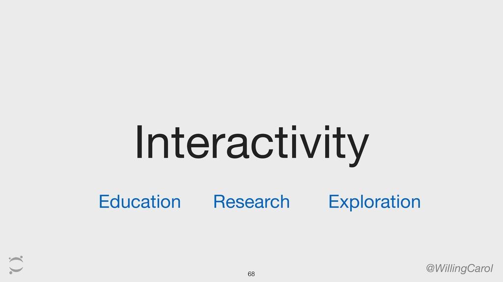 Interactivity @WillingCarol Education Research ...
