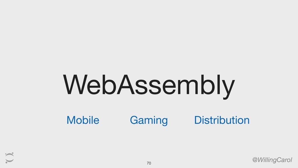 WebAssembly @WillingCarol Mobile Gaming Distrib...