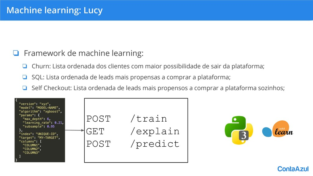 Machine learning: Lucy ❏ Framework de machine l...
