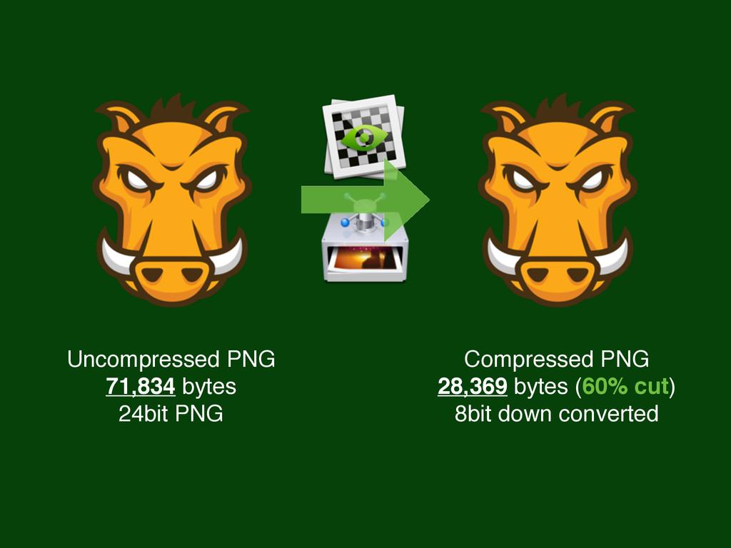 Uncompressed PNG 71,834 bytes 24bit PNG Compres...