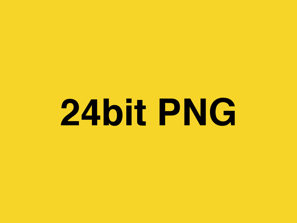 24bit PNG