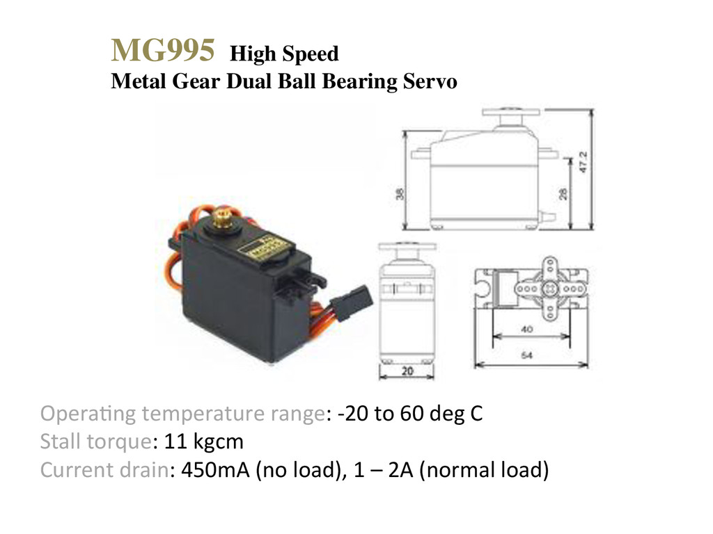 MG995 High Speed Metal Gear Dual Ball Bearing S...