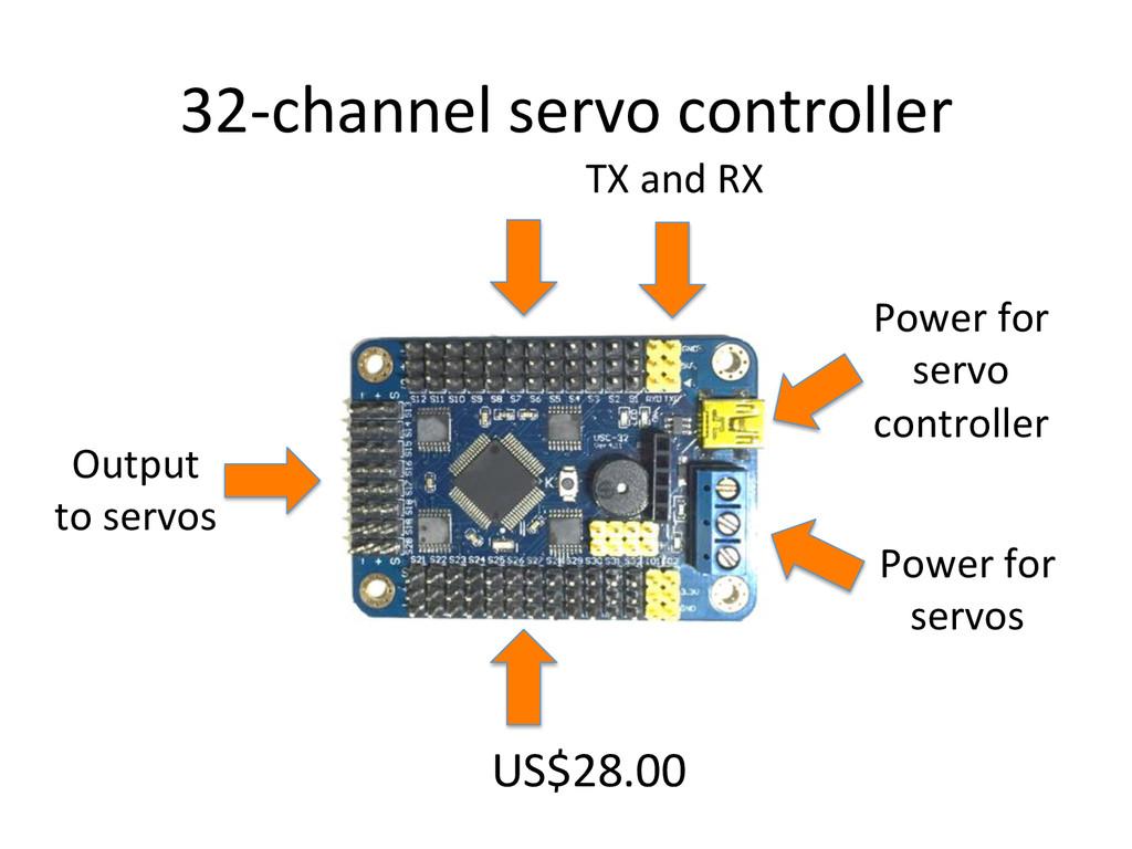 32Uchannel)servo)controller) US$28.00) Power)fo...