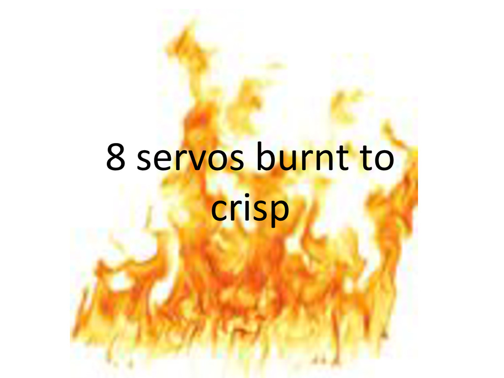 8)servos)burnt)to) crisp)