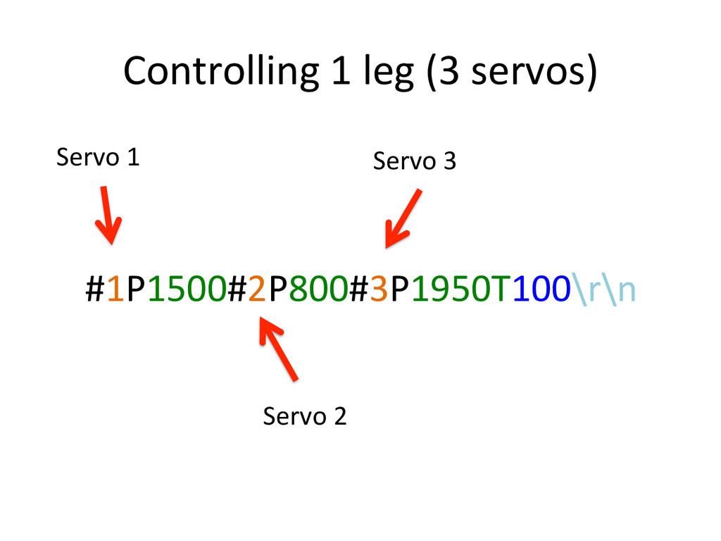#1P1500#2P800#3P1950T100\r\n) Controlling)1)leg...