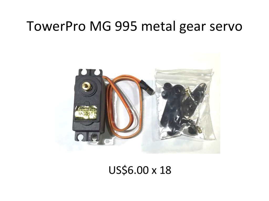TowerPro)MG)995)metal)gear)servo) US$6.00)x)18)