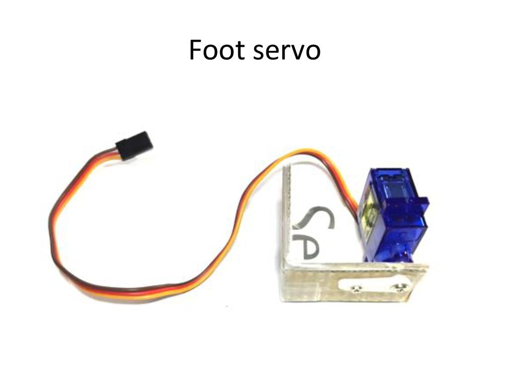 Foot)servo)