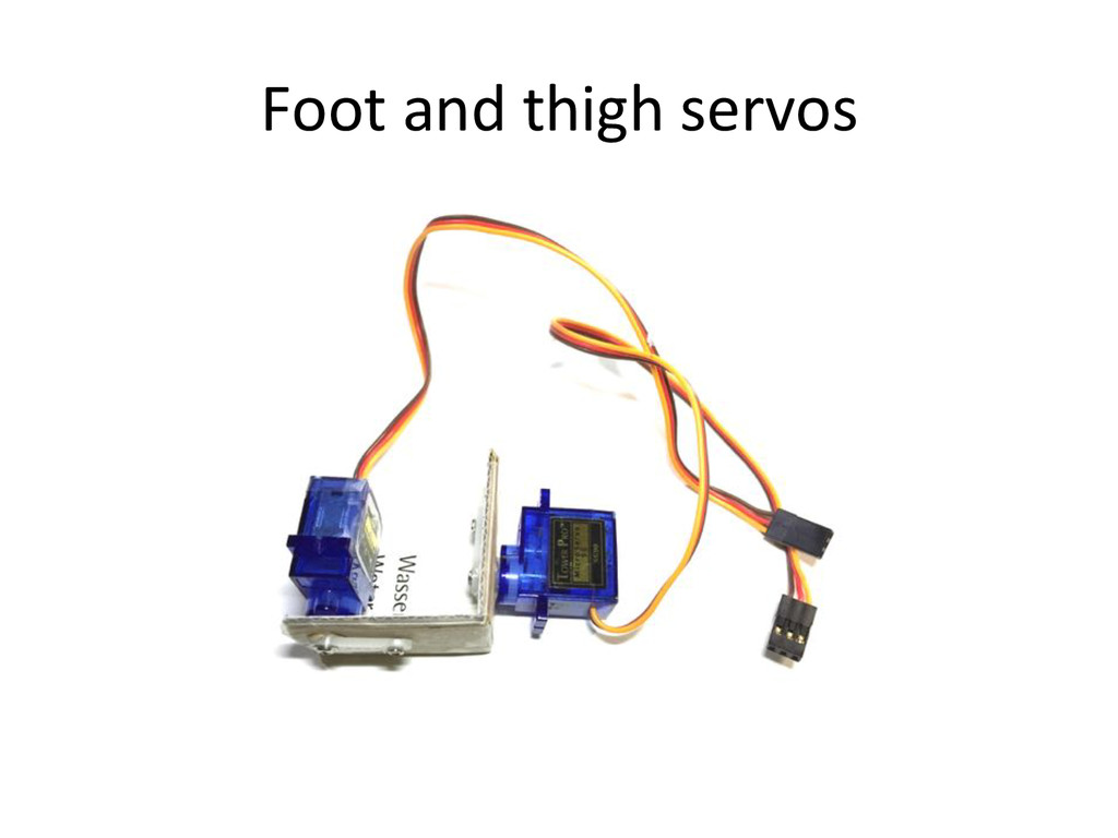 Foot)and)thigh)servos)