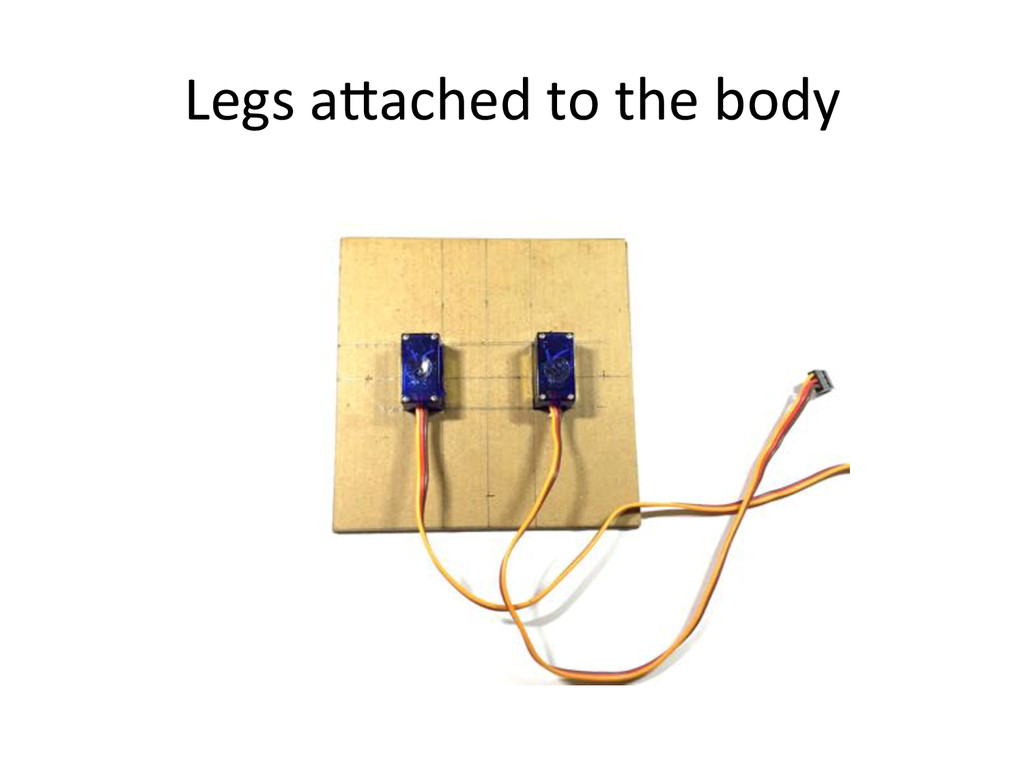 Legs)a^ached)to)the)body)