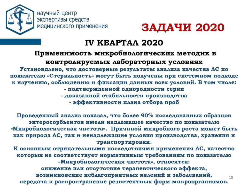 IV КВАРТАЛ 2020 Применимость микробиологических...
