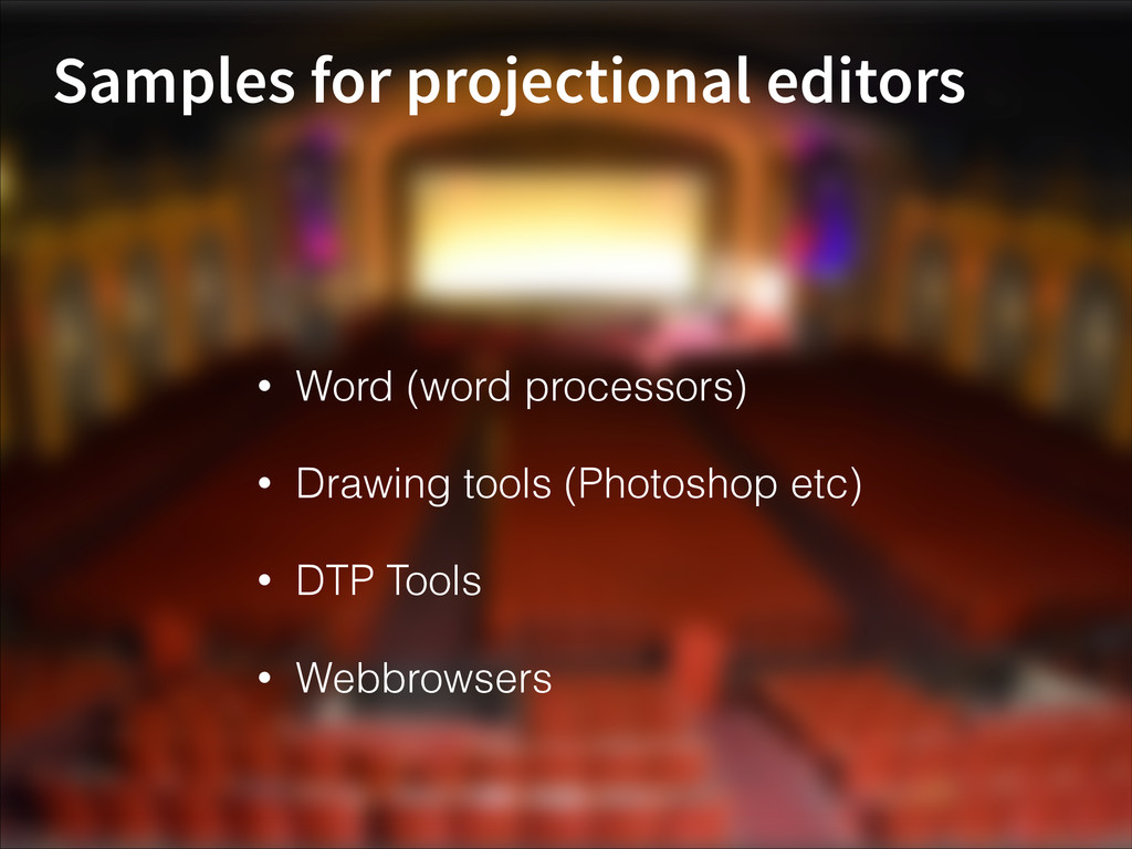 Samples for projectional editors • Word (word p...