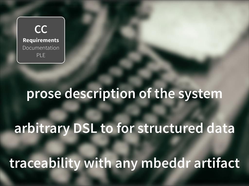 CC Requirements Documentation PLE prose descrip...