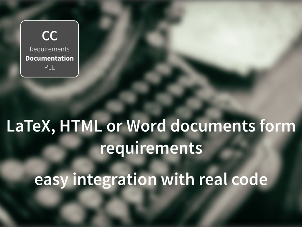 CC Requirements Documentation PLE LaTeX, HTML o...