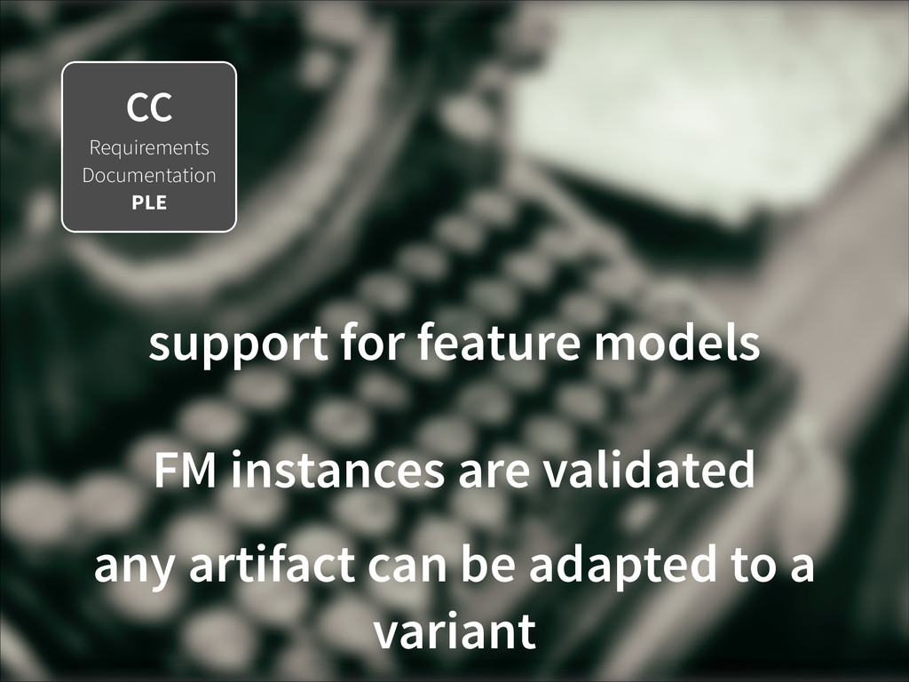 CC Requirements Documentation PLE support for f...