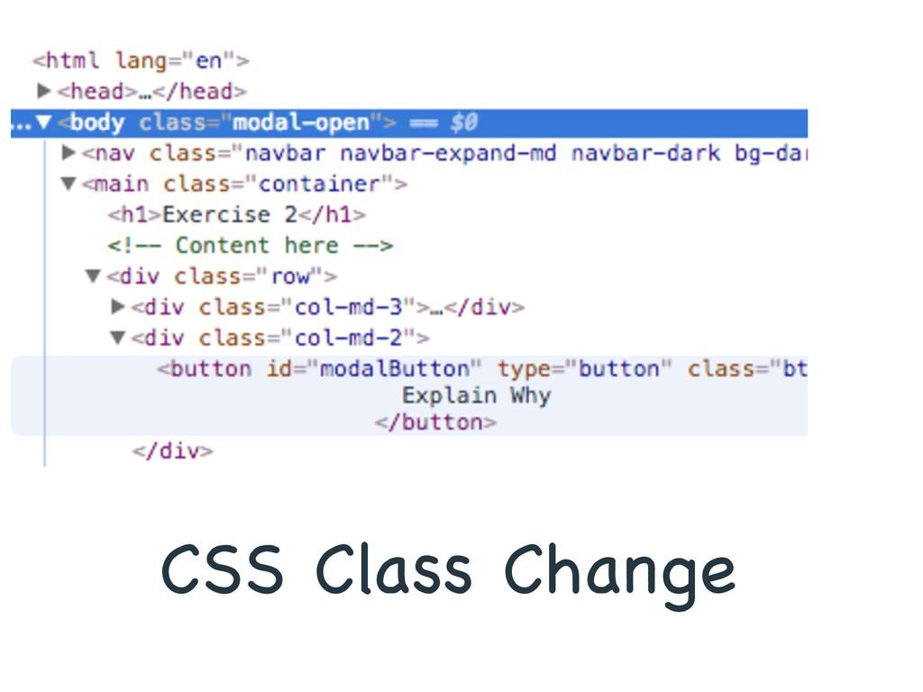 CSS Class Change