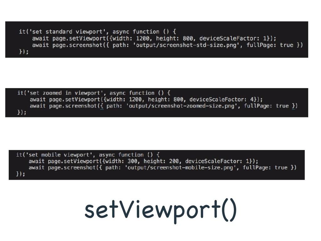 setViewport()