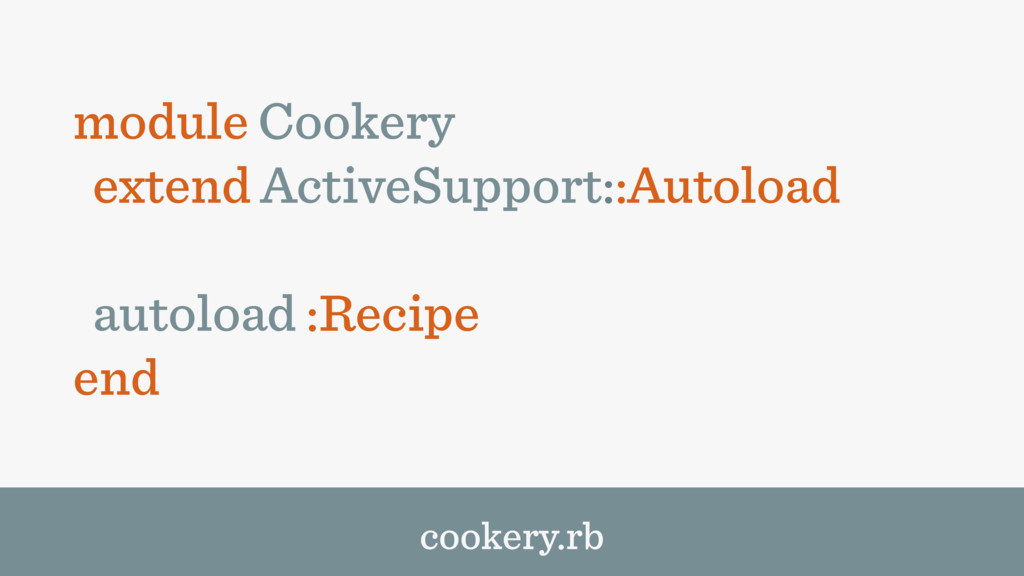 module Cookery extend ActiveSupport::Autoload a...