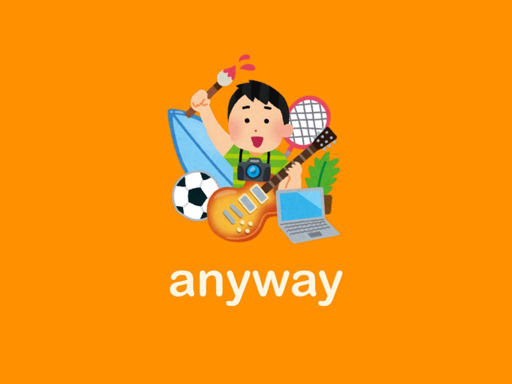 anyway