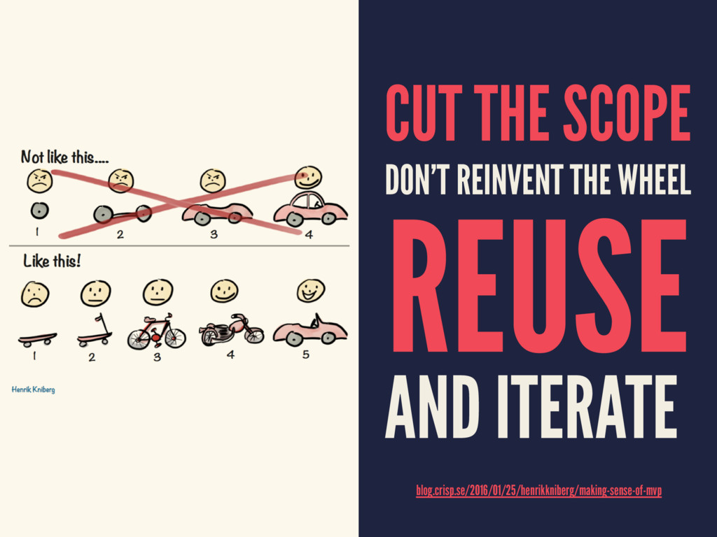 CUT THE SCOPE DON'T REINVENT THE WHEEL REUSE AN...