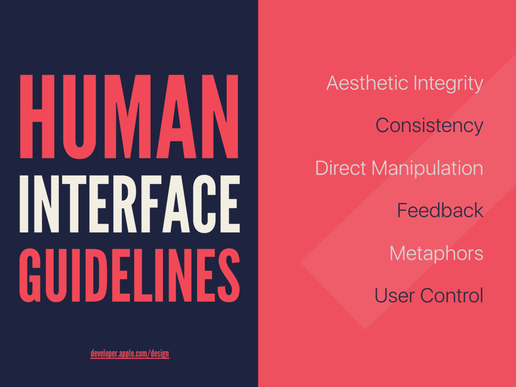 HUMAN INTERFACE GUIDELINES  developer.a...