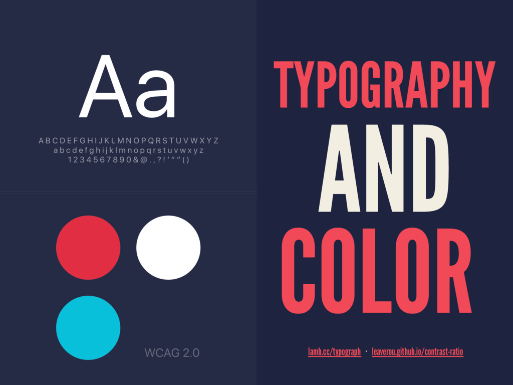 TYPOGRAPHY AND COLOR   lamb.cc/typograph·le...