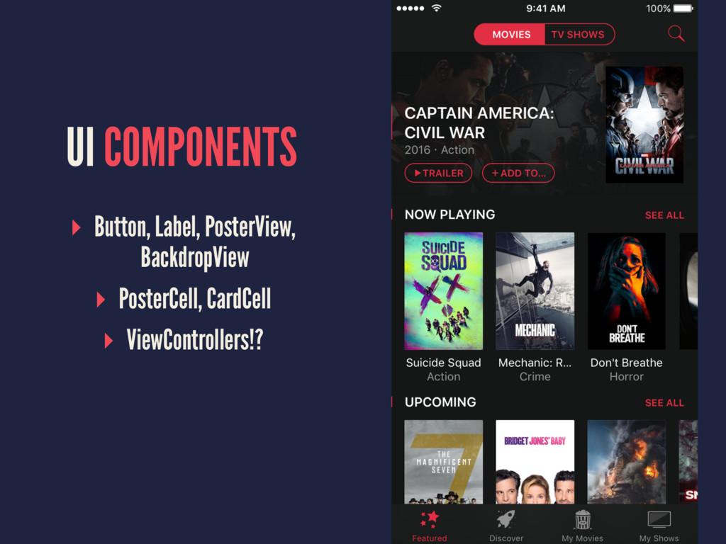 UI COMPONENTS ▸ Button, Label, PosterView, Back...