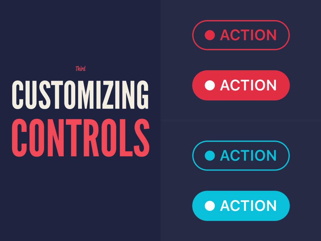 Third CUSTOMIZING CONTROLS