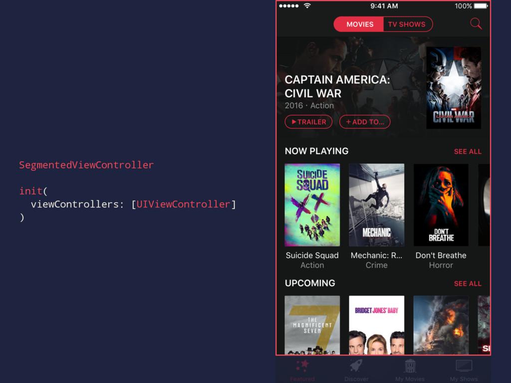SegmentedViewController init( viewControllers: ...