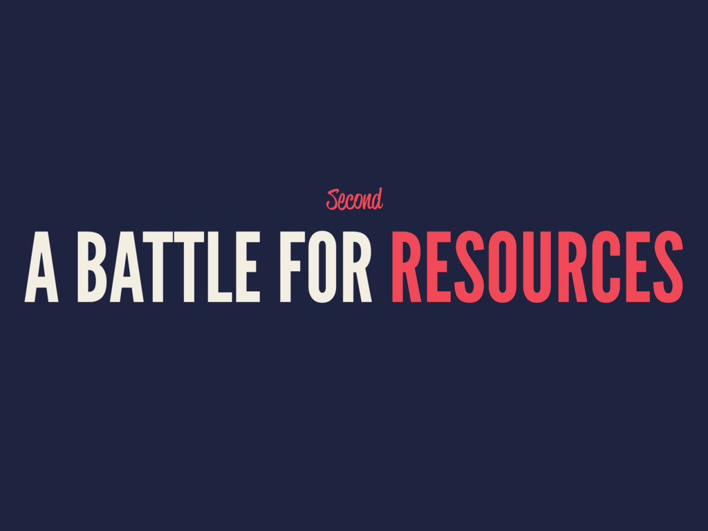 Second A BATTLE FOR RESOURCES