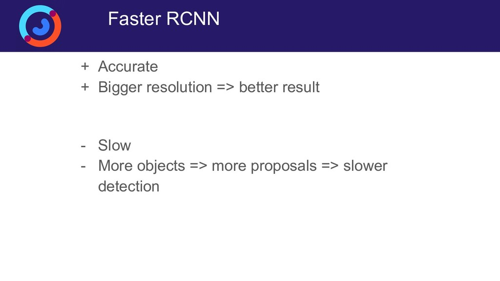 Faster RCNN + Accurate + Bigger resolution => b...