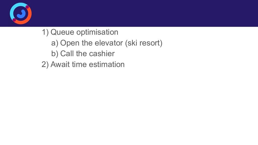 Business case 1) Queue optimisation a) Open the...