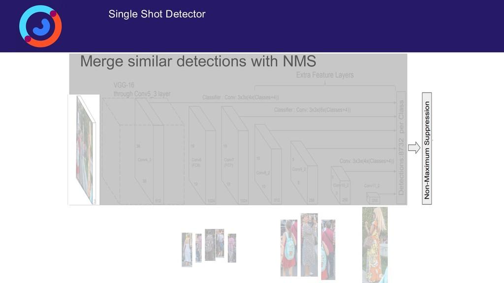 Single Shot Detector Merge similar detections w...