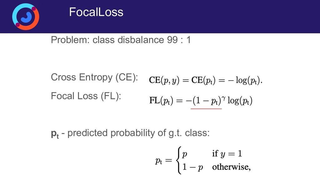 FocalLoss Problem: class disbalance 99 : 1 Cros...