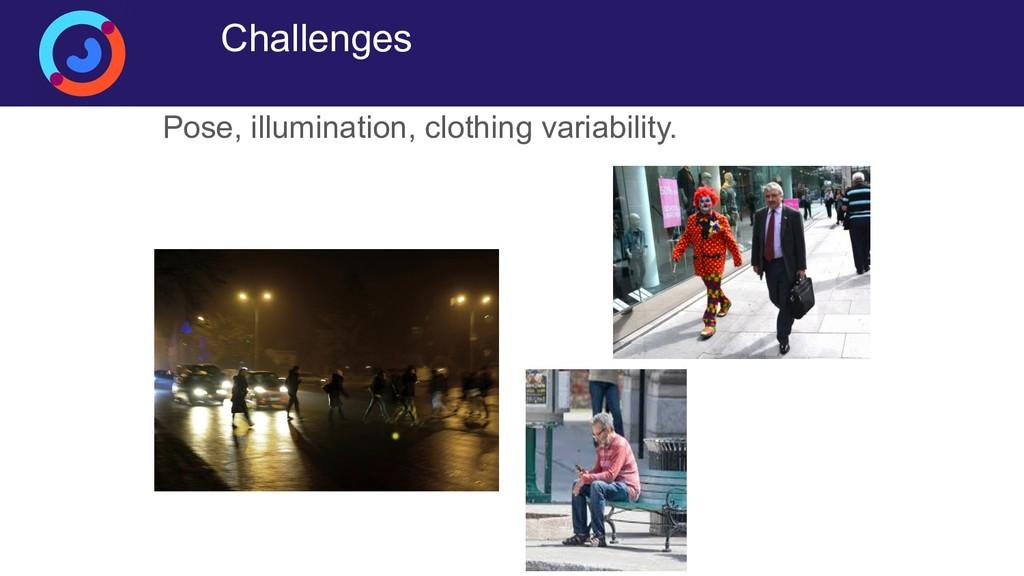 Challenges Pose, illumination, clothing variabi...