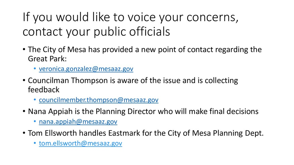 If you would like to voice your concerns, conta...