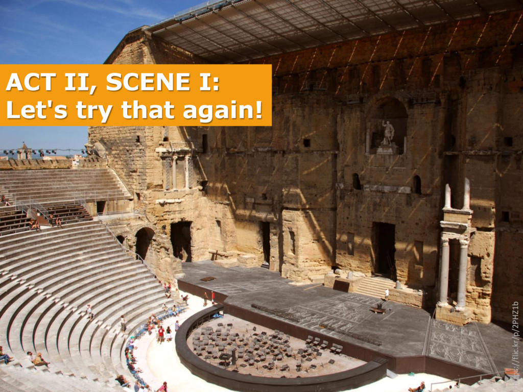 ACT II, SCENE I: Let's try that again! https://...