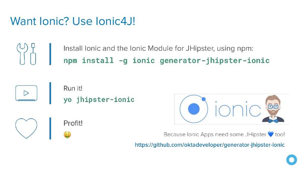 Want Ionic? Use Ionic4J!