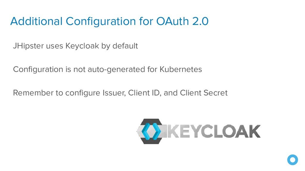 Additional Configuration for OAuth 2.0 JHipster ...