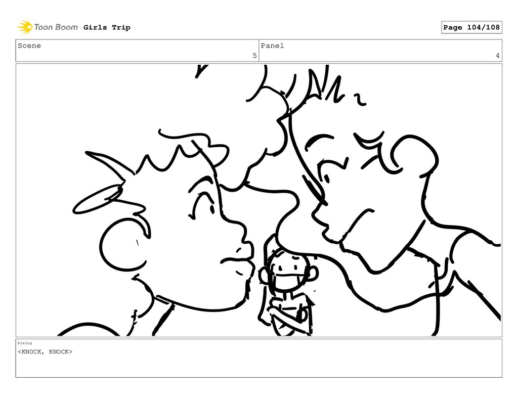 Scene 5 Panel 4 Dialog <KNOCK, KNOCK> Girls Tri...
