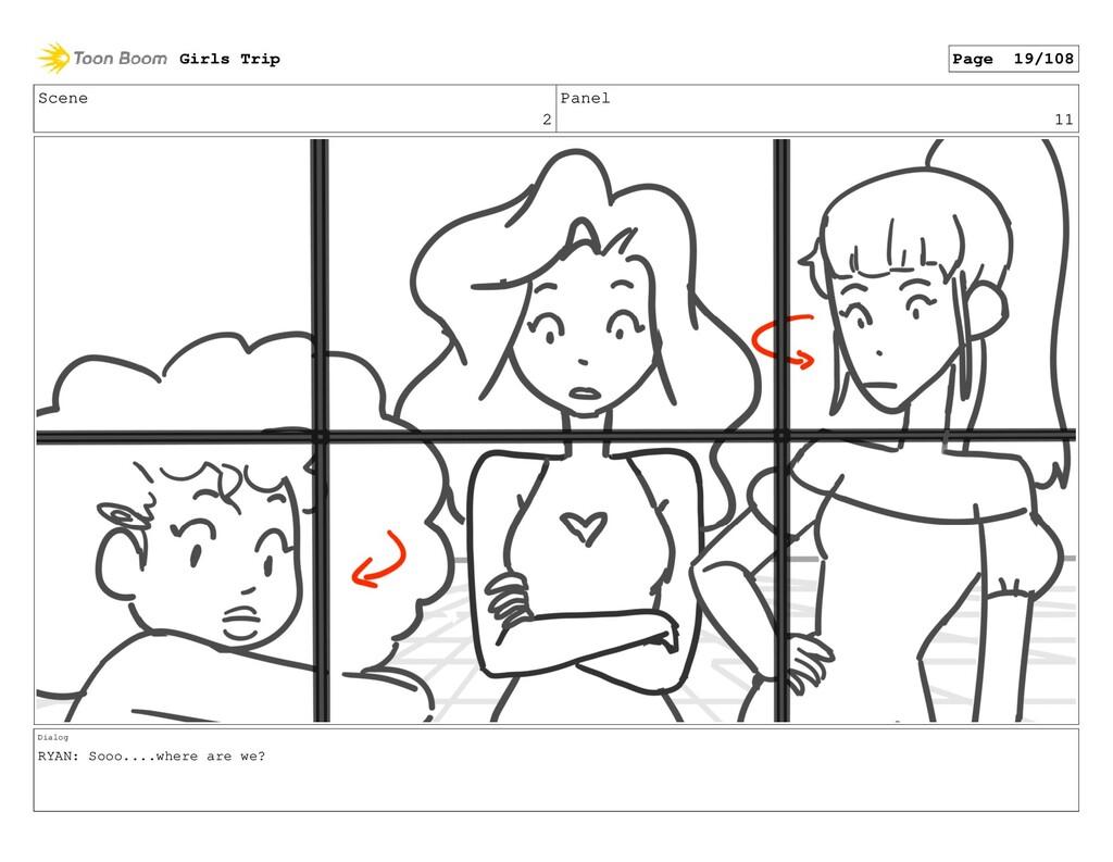 Scene 2 Panel 11 Dialog RYAN: Sooo....where are...