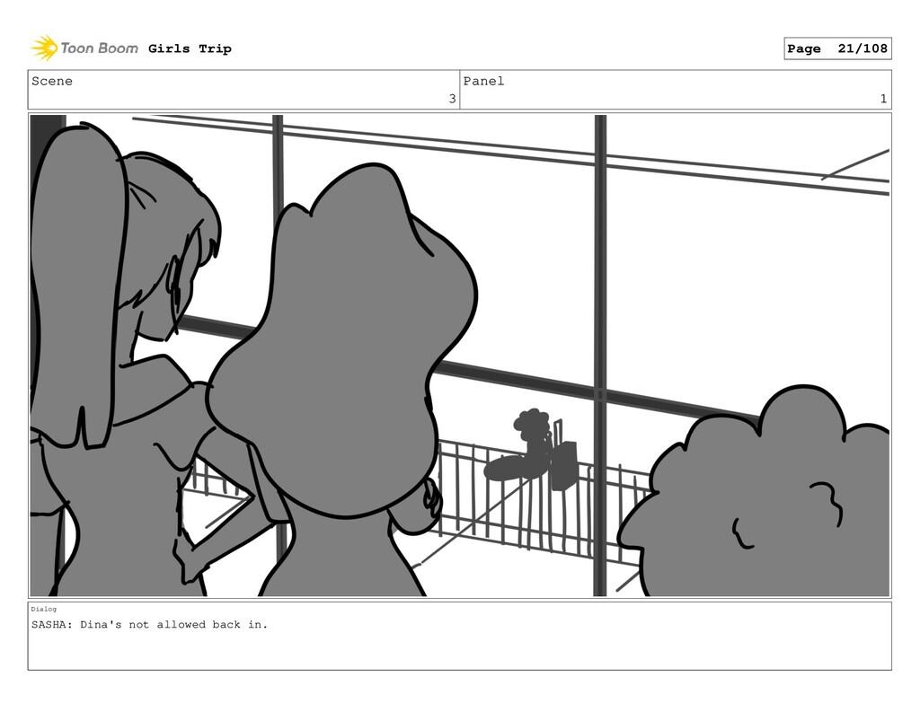Scene 3 Panel 1 Dialog SASHA: Dina's not allowe...