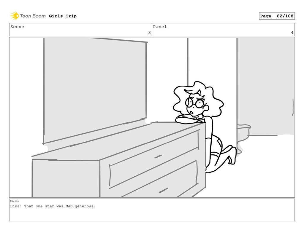 Scene 3 Panel 4 Dialog Dina: That one star was ...