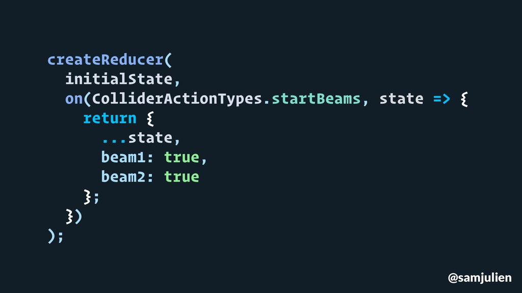 @samjulien createReducer( initialState, on(Coll...