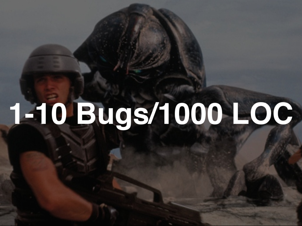 1-10 Bugs/1000 LOC