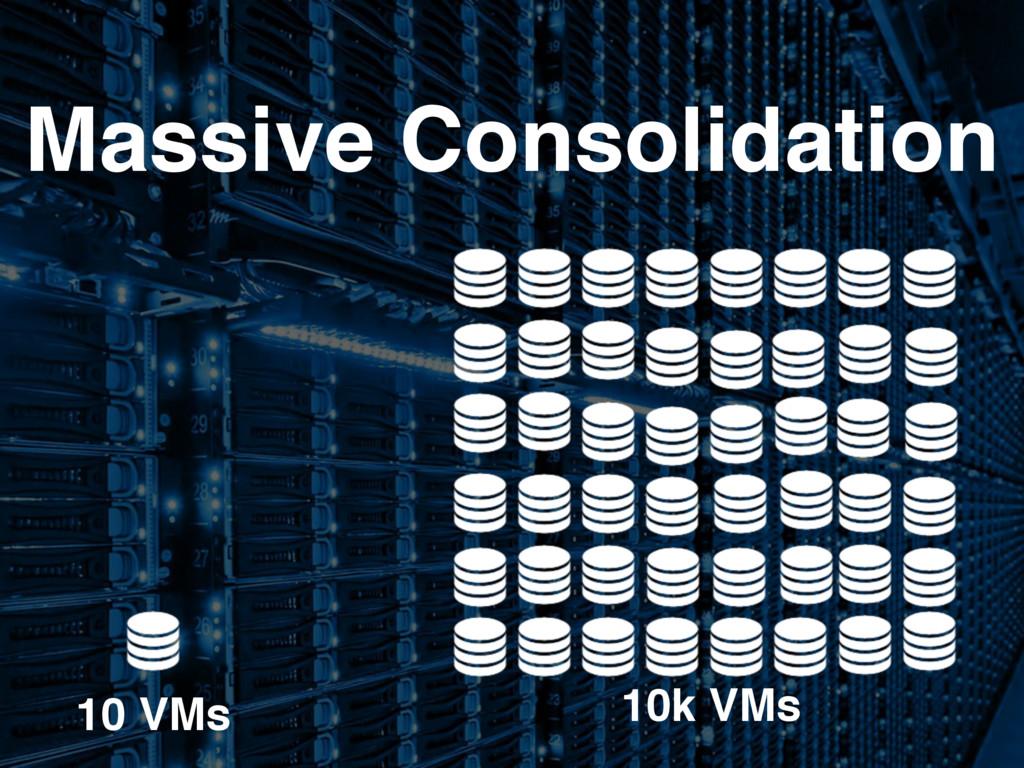 10k VMs 10 VMs Massive Consolidation