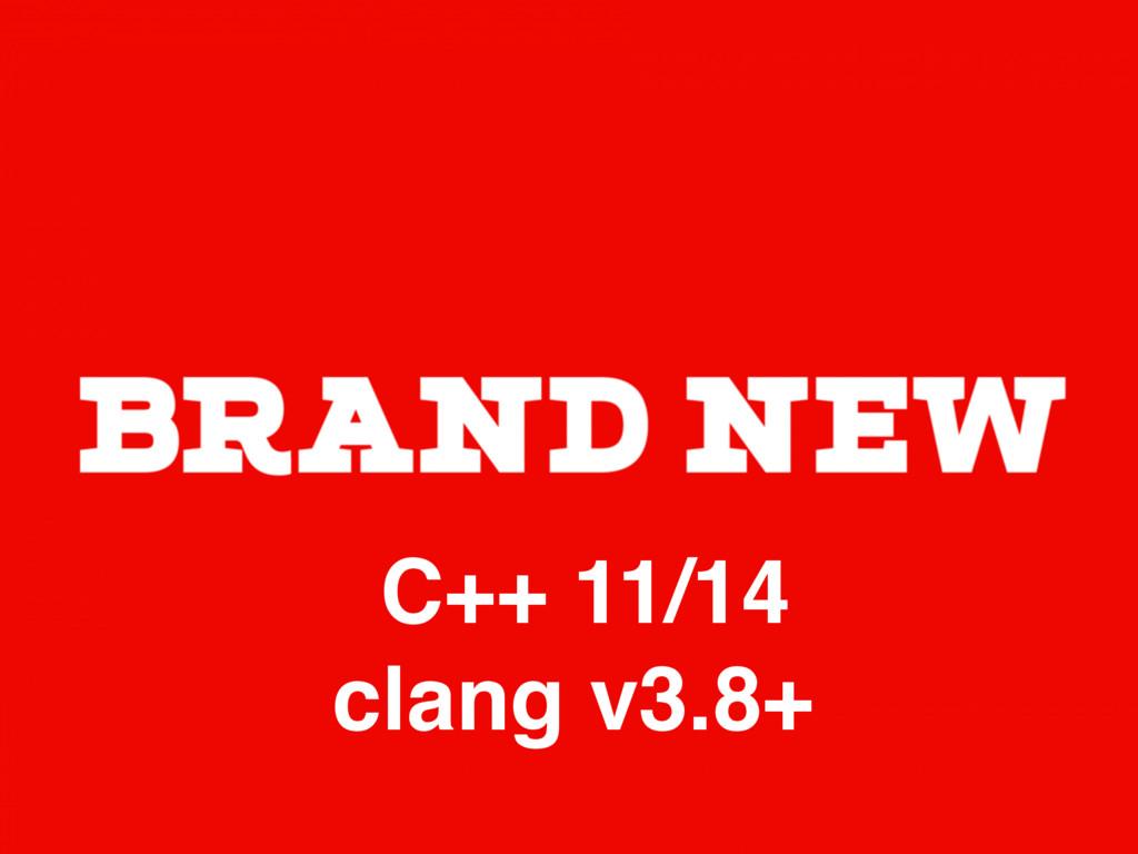 C++ 11/14 clang v3.8+