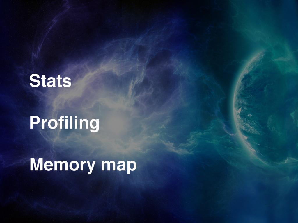 Stats Profiling Memory map