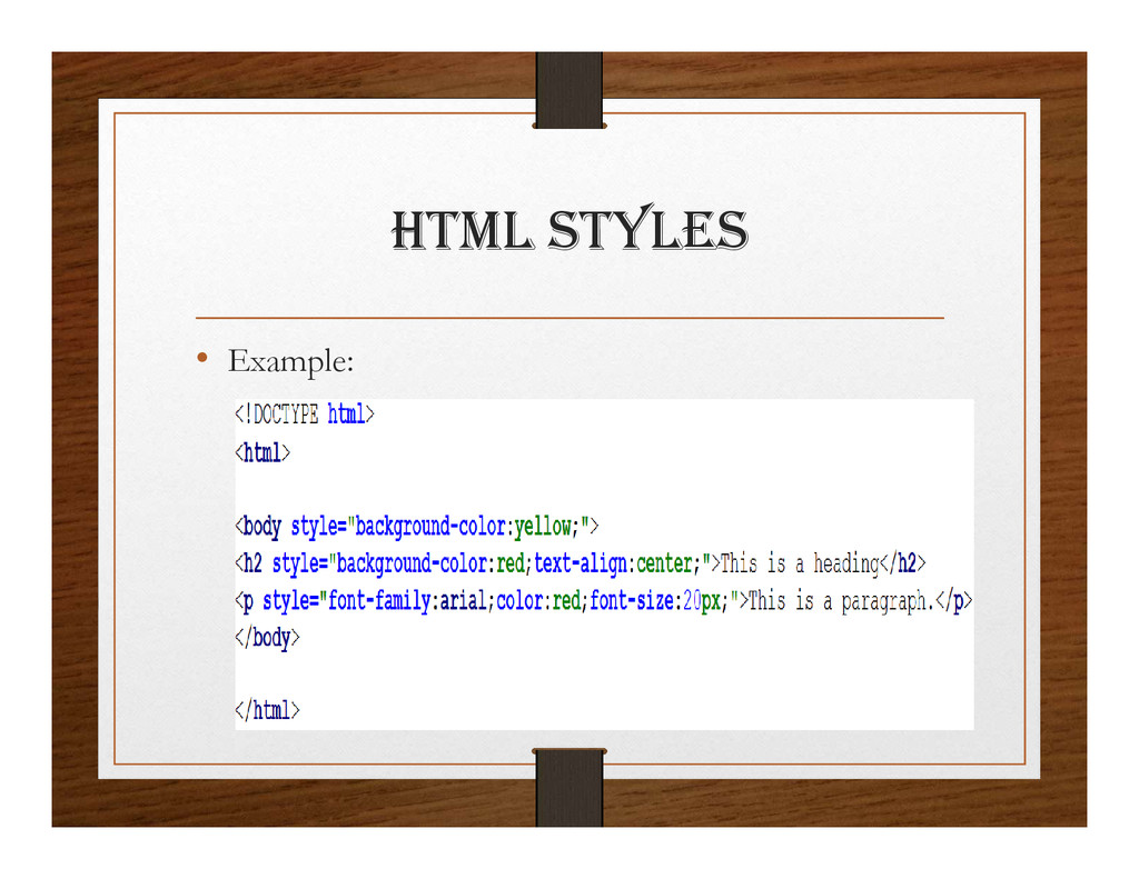 html StylES • Example: