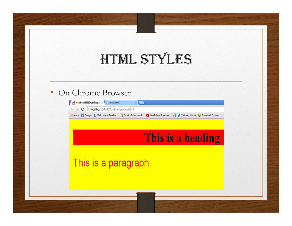 html StylES • On Chrome Browser